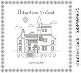 attractions ireland. city.... | Shutterstock .eps vector #588464675