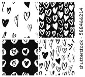 set of seamless pattern with... | Shutterstock .eps vector #588466214