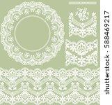 set mandalas and patterns. | Shutterstock .eps vector #588469217