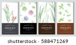 chocolate bar packaging mock up ... | Shutterstock .eps vector #588471269