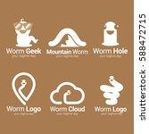 worm logo design template.... | Shutterstock .eps vector #588472715