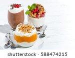desserts with pumpkin ... | Shutterstock . vector #588474215