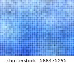 abstract square pixel mosaic... | Shutterstock .eps vector #588475295