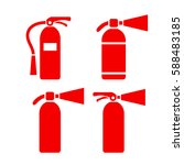 red fire extinguisher vector... | Shutterstock .eps vector #588483185