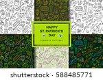 st.patrick 's day . vector set...   Shutterstock .eps vector #588485771