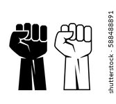 fist vector eps icon set... | Shutterstock .eps vector #588488891