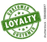 customer loyalty rubber ink... | Shutterstock .eps vector #588488897