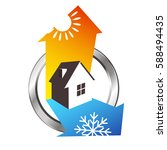 heating and cooling house  air... | Shutterstock .eps vector #588494435