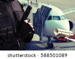 security video protection... | Shutterstock . vector #588501089