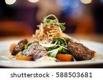 brutus salad with beef... | Shutterstock . vector #588503681