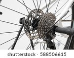 close up of a bicycle wheel... | Shutterstock . vector #588506615