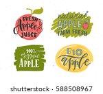 hand sketched apple lettering... | Shutterstock .eps vector #588508967