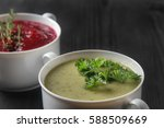 traditional beetroot soup in...
