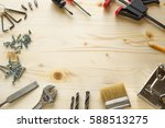 tools for repairs in the house... | Shutterstock . vector #588513275