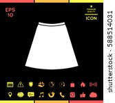 skirt icon  the silhouette.... | Shutterstock .eps vector #588514031