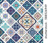 beautiful mega patchwork... | Shutterstock . vector #588526949