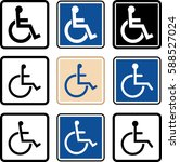 access icon  disabled handicap... | Shutterstock .eps vector #588527024