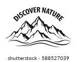 mountain range silhouette...   Shutterstock .eps vector #588527039
