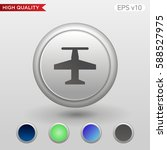 plane icon. button with plane...