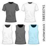 collection of men's clothes. t...   Shutterstock .eps vector #588530741