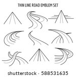 thin line road and highway... | Shutterstock .eps vector #588531635