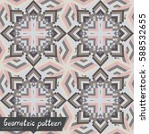 pattern of geometric shapes.... | Shutterstock .eps vector #588532655