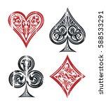card suit vintage symbols...