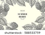 blackberry. vector floral...