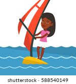 african woman windsurfing in... | Shutterstock .eps vector #588540149