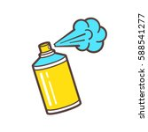 color spray paint can in flat... | Shutterstock .eps vector #588541277