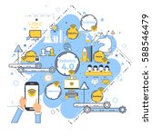 industry 4.0 concept business... | Shutterstock .eps vector #588546479