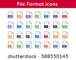 file format icon big set