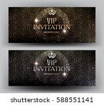 gold and silver vip banners... | Shutterstock .eps vector #588551141