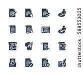 vector icon set of legal... | Shutterstock .eps vector #588553025