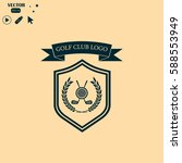 golf club logo | Shutterstock .eps vector #588553949