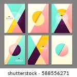 set of banner templates. bright ... | Shutterstock .eps vector #588556271