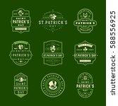 happy saint patricks day retro... | Shutterstock .eps vector #588556925