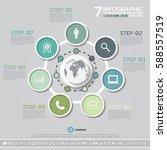 vector geometric infographics... | Shutterstock .eps vector #588557519