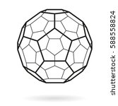 vector hexagonal grid buckyball ... | Shutterstock .eps vector #588558824