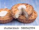 whole wheat tarts with... | Shutterstock . vector #588562994