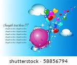 girl teddy bear hanging from a...   Shutterstock .eps vector #58856794