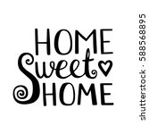 Home Sweet Home Lettering....