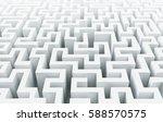 white maze background 3d...   Shutterstock . vector #588570575