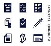 list icons set. set of 9 list... | Shutterstock .eps vector #588575369