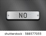 no metal button plate. on metal ... | Shutterstock .eps vector #588577055