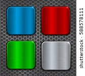 colored metal brushed square...