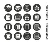 book icon set in circle buttons   Shutterstock .eps vector #588585587