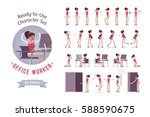 ready to use character set.... | Shutterstock .eps vector #588590675