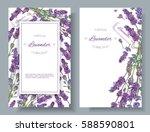 vector lavender flower banners... | Shutterstock .eps vector #588590801