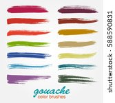 a set of vector brushstrokes.... | Shutterstock .eps vector #588590831